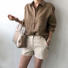 棉麻襯衫女外穿2021春秋夏季新款復古港味白色設計感小眾休閒上衣 設計師