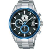 ALBA雅柏 年輕世代計時手錶-黑x銀/43mm VD57-X136D(AM3599X1)
