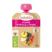 法國Babybio 生機蘋果藍莓草莓纖果泥