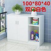 現代簡約廚房櫥櫃碗櫃帶門收納儲物餐邊微波爐櫃陽台客廳茶水櫃子 YTL LannaS