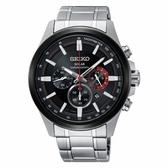 SEIKO Criteria三眼計時太陽能腕錶(V175-0ER0R)SSC677P1/