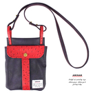 茄紫休閒兩用袋  斜背包 / 腰包  AMINAH~【am-0276】