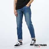 BIG TRAIN   合身皮革袋花小直筒褲-男-BM7247