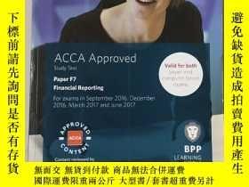 二手書博民逛書店ACCA罕見Approved study Text paper F7 Financial Reporting:AC