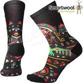 Smartwool Curated SW003823-001黑色 女印花輕薄中長襪 美麗諾羊毛襪/機能排汗襪