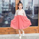女童古裝 女童漢服中國風儒裙民族風雪紡小孩改良唐裝兒童古裝漢服連身裙 傾城小鋪