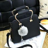 手提包女韓版個性時尚包包百搭單肩包簡約大氣斜挎包方包 免運快速出貨