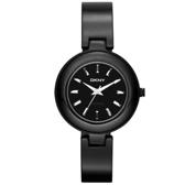 DKNY 魅力潮流晶鑽陶瓷套錶組(黑)