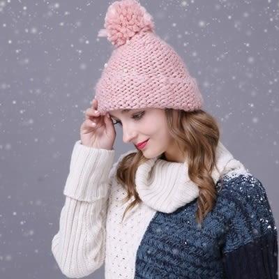 羊毛帽-韓版可愛優雅時尚風女針織帽3色73id41【時尚巴黎】