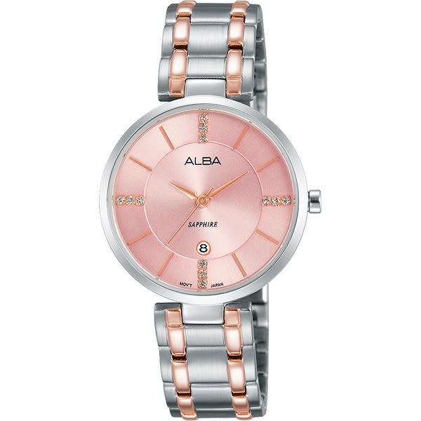ALBA 雅柏 專屬於妳限量東京石英女錶-粉x雙色/30mm VJ22-X236P(AH7L27X1)