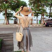 618好康鉅惠 草帽女夏天小清新可折疊沙灘帽防曬太陽帽