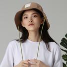 【ISW】雙色梭織大檐帽-棕色 (兩色可選) 設計師品牌