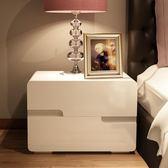 床頭櫃簡約現代時尚白色鋼琴烤漆儲物櫃時尚床邊櫃整裝簡易xw 雙12購物節