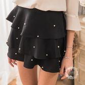 【EIIZO】珍珠裝飾俏麗蛋糕褲裙