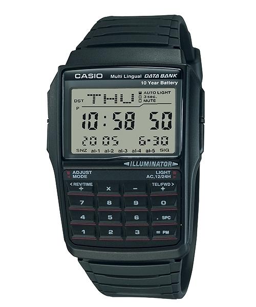 附台灣卡西歐保卡才是公司貨【時間光廊】CASIO 卡西歐 DATA BANK 電話記憶 計算機手錶 DBC-32-1A
