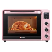 (快出)電烤箱 家用烘焙蛋糕多功能全自動迷你40升小型烤箱大容量