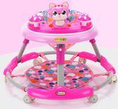 學步車 嬰幼兒童寶寶6/7-18個月多功能防側翻手推可坐可折疊帶音樂