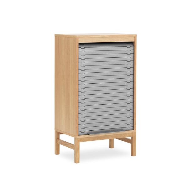 丹麥 Normann Copenhagen Jalousi Cabinet Low H101.5cm 百葉捲門系列 雙層 木質 收納櫃