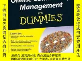 二手書博民逛書店Online罕見Community Management For DummiesY410016 Deborah