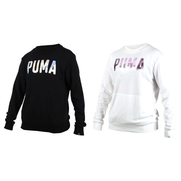 PUMA Fusion女長袖圓領衫(長T T恤 慢跑≡體院≡