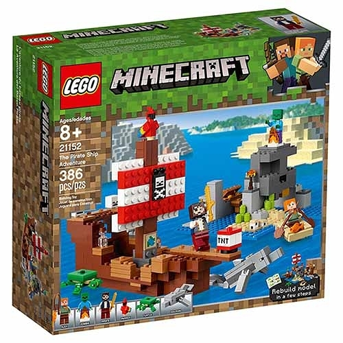 樂高積木 LEGO《 LT21152 》Minecraft 系列 - The Pirate Ship Adventure╭★ JOYBUS玩具百貨