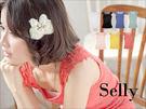 Selly *沙粒* 心機美感‧浪漫肩刺繡蕾絲羅紋百搭小背心 * 現貨