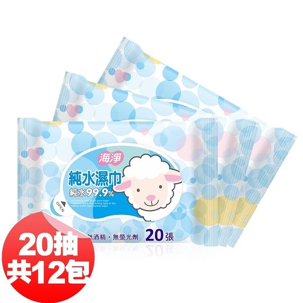 海淨 純水濕紙巾20抽x12包入