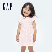 Gap嬰兒 純棉娃娃領洋裝套裝 682819-淡粉色