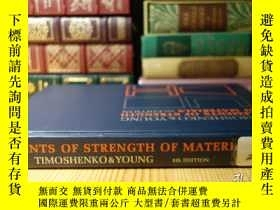 二手書博民逛書店現代工程力學之父鐵木辛柯的材料強度罕見Elements of Strength of MaterialsY35