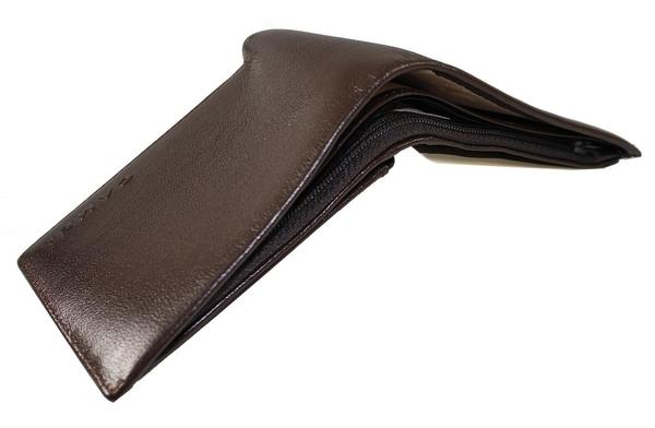 CAMEL 真皮多夾層功能 (票卡左右翻不可拆式) 男用 短皮夾-胎紋深咖色(CM-12204-2)