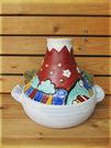 ~佐和陶瓷餐具~【XL05031-5赤富士耐熱砂鍋-日本製】/ 造型砂鍋 手造品 收藏 /