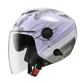 ZEUS 瑞獅安全帽,202FB,T49/淺紫銀