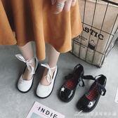 日繫復古娃娃鞋女春季新款淺口平底綁帶小皮鞋百搭軟妹單鞋潮艾美時尚衣櫥