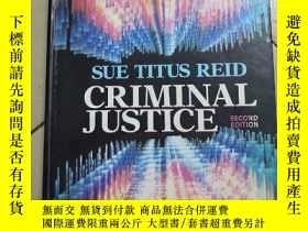 二手書博民逛書店SUE罕見TITUS REID CRIMINAL JUSTICE