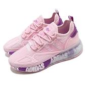 adidas 休閒鞋 ZX 2K Boost W 粉紅 粉紫 女鞋 三葉草 運動鞋 【ACS】 FX7058