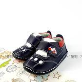 可愛汽車 休閒皮面學步鞋《7+1童鞋》C585藍色