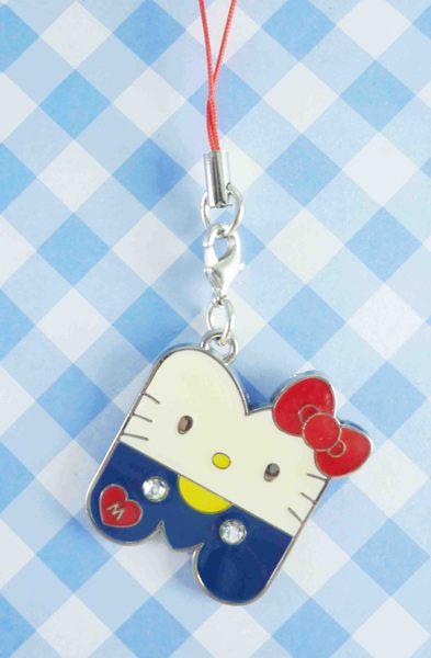 【震撼精品百貨】Hello Kitty 凱蒂貓~手機吊飾-字母M