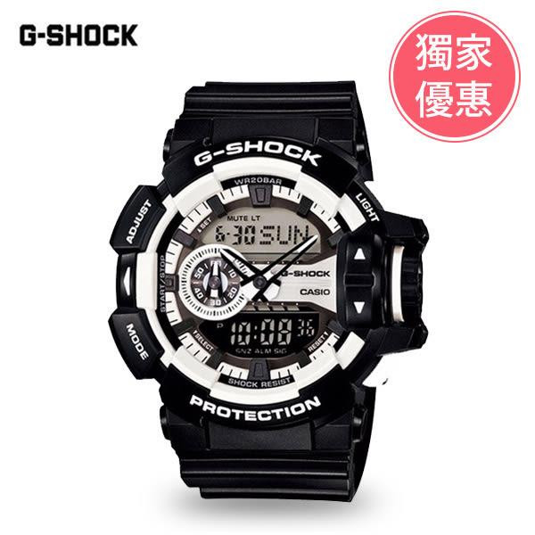 CASIO卡西歐 G-SHOCK 運動錶GA-400-1ADR