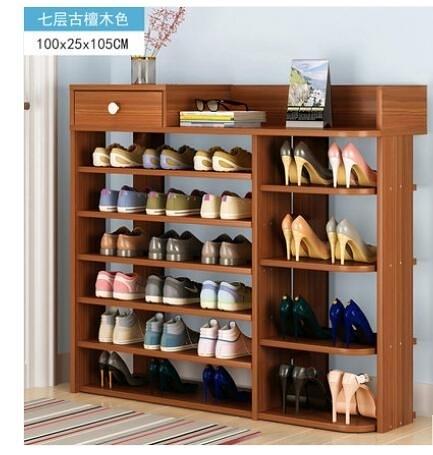 門口多層小鞋架子簡易家用鞋櫃收納經濟型置物架仿實木省空間宿舍 【快速】