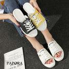 PAPORA休閒涼拖鞋KB701黑/白/黃(偏小)