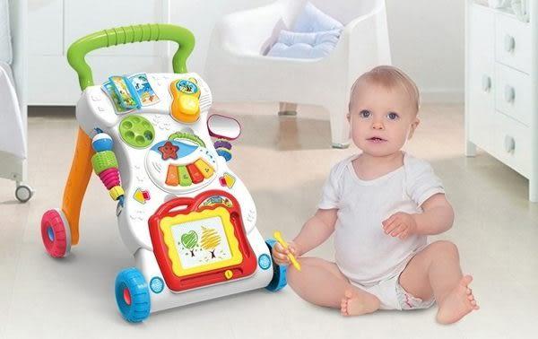 *粉粉寶貝玩具*多功能音樂遊戲幼兒學步手推車 /助步車~可調速~可學走路也可玩遊戲唷~特價