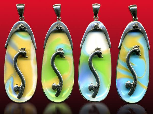 鹿港窯~開運古法水晶琉璃銀飾項鍊~龍行天下 附精美包裝◆免運費送到家