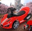 龐巴迪防O型腿兒童扭扭車1-3歲寶寶助步滑行四輪溜溜玩具車帶音樂 qf2289【黑色妹妹】