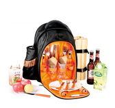 野餐包 含2人餐具組-大容量好背透氣背袋多功能攜帶方便雙肩後背包68ag38[時尚巴黎]