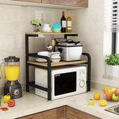 廚房置物架3層微波爐架電飯煲調料儲物架落地烤箱架  萬客居