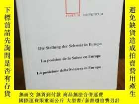 二手書博民逛書店LA罕見POSITION DE LA SUISSE EN EUR