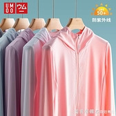 upf50 冰絲防曬衣女2020新款防紫外線透氣長袖針織薄款男夏防曬服 美眉新品
