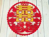 鴛鴦立體金喜字(大) 囍字 婚禮小物 婚俗用品 婚禮佈置 婚禮佈置 新房擺設【皇家結婚百貨】