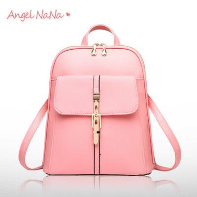 後背包 女雙肩包 韓版休閒 純色 時尚(多有現貨) AngelNaNa SBA0154