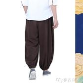 居士服尚遠七侶春全棉僧褲出家和尚禪意居士褲中國風禪修褲休閒褲 麥吉良品